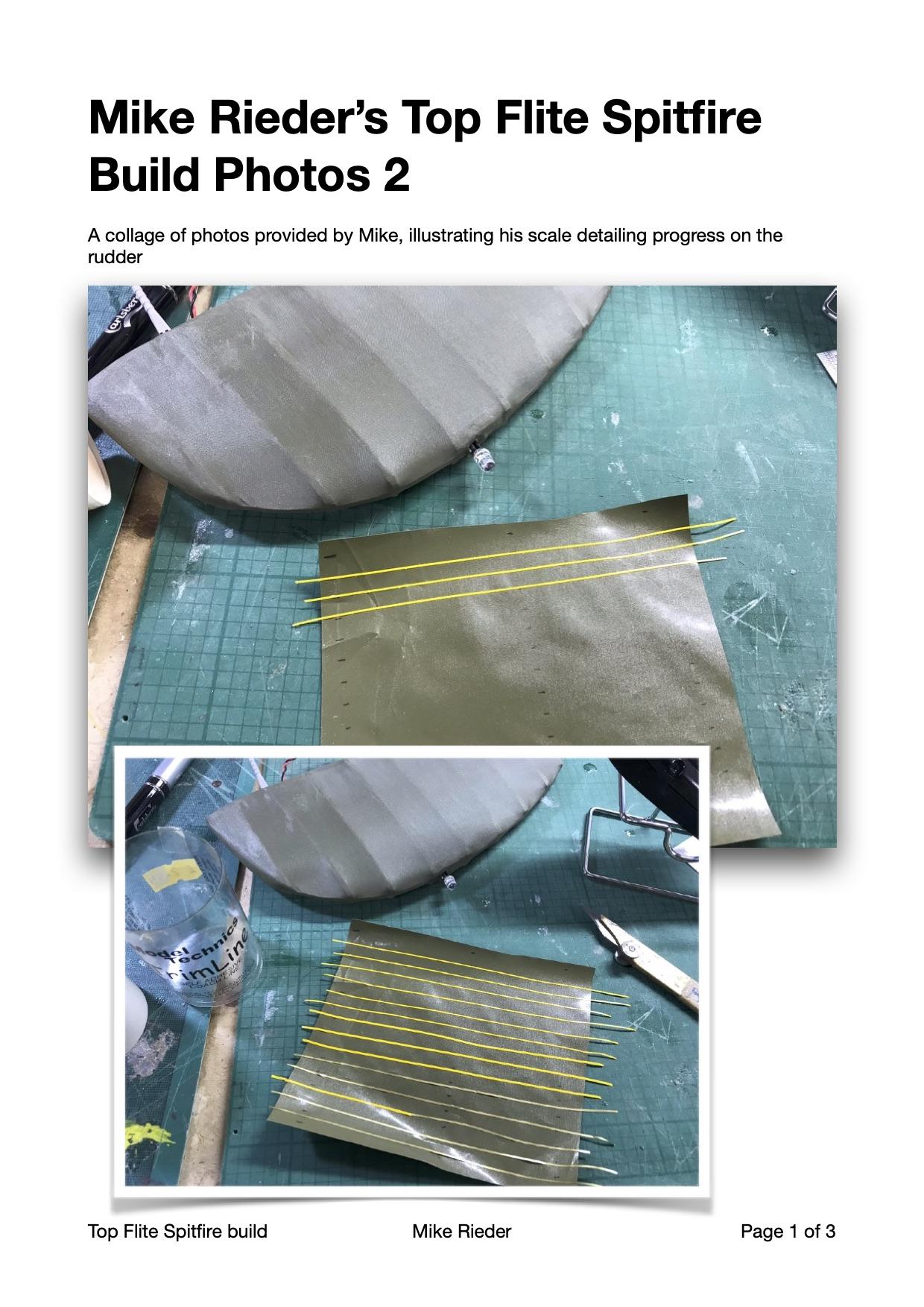 Mike Rieder Spitfire Rudder Detailing