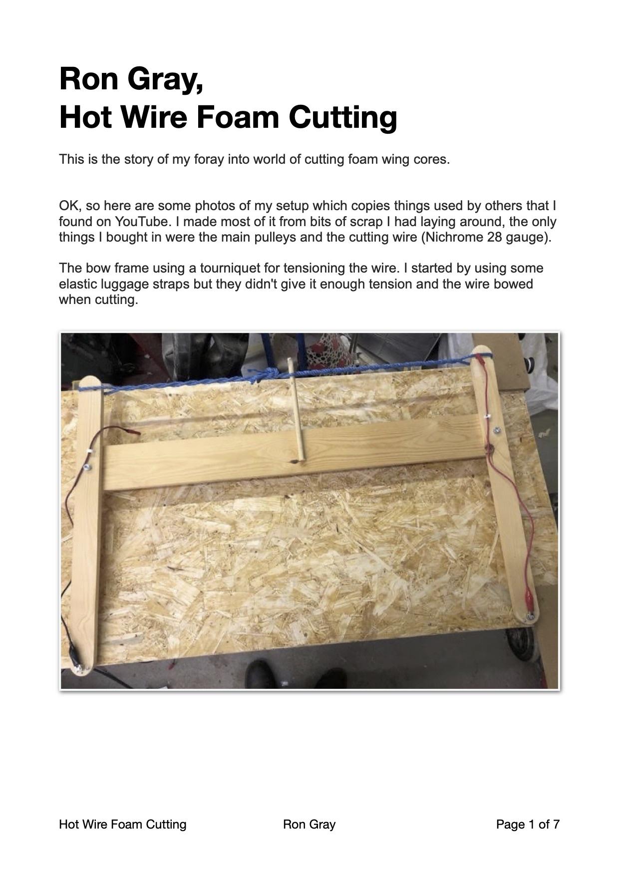 "Ron Gray - Hot Wire Foam Cutting 20201126, updated 20201207"" width="