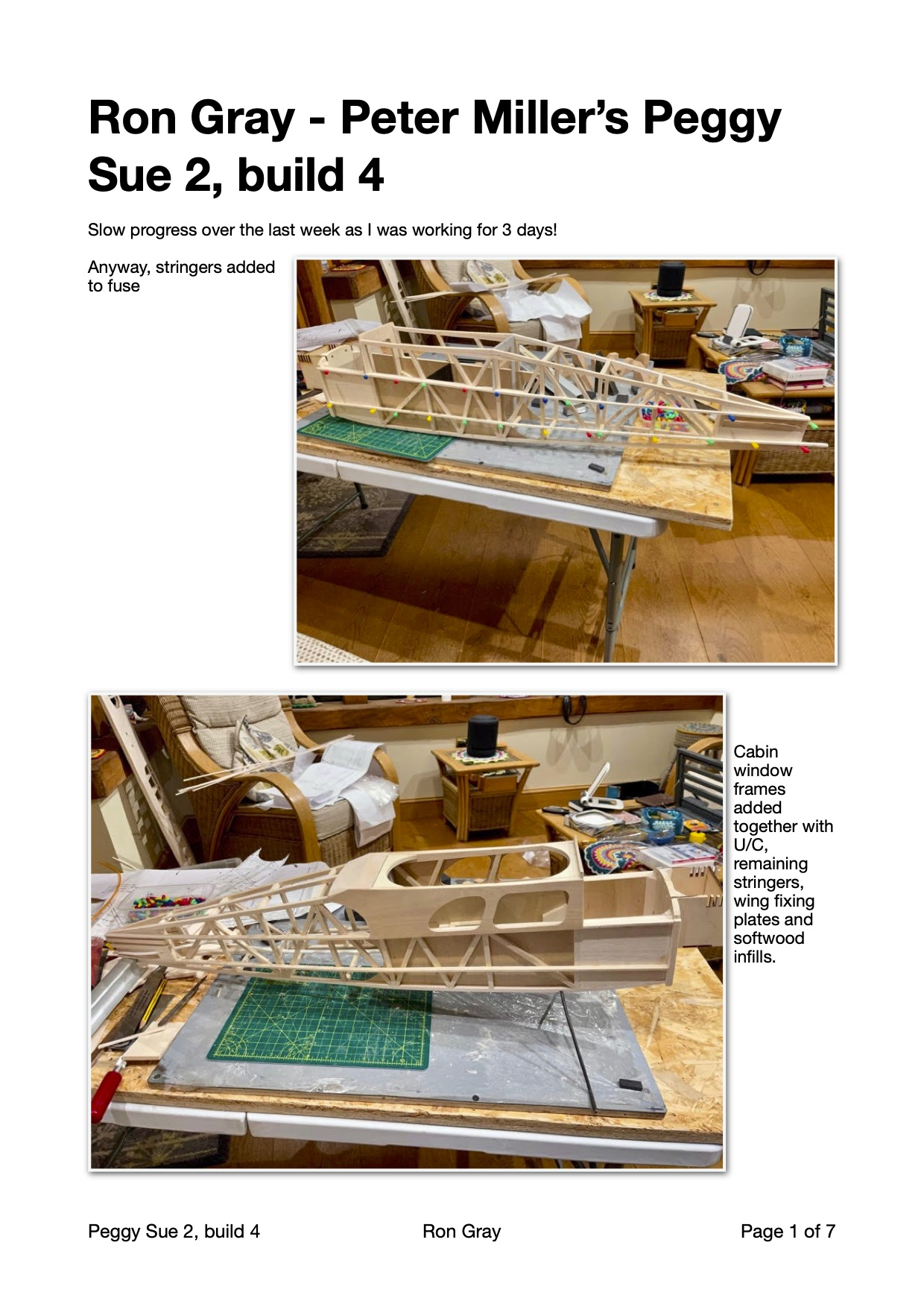 "Ron Gray - Peter Miller's Peggy Sue2, build report 4"" width="